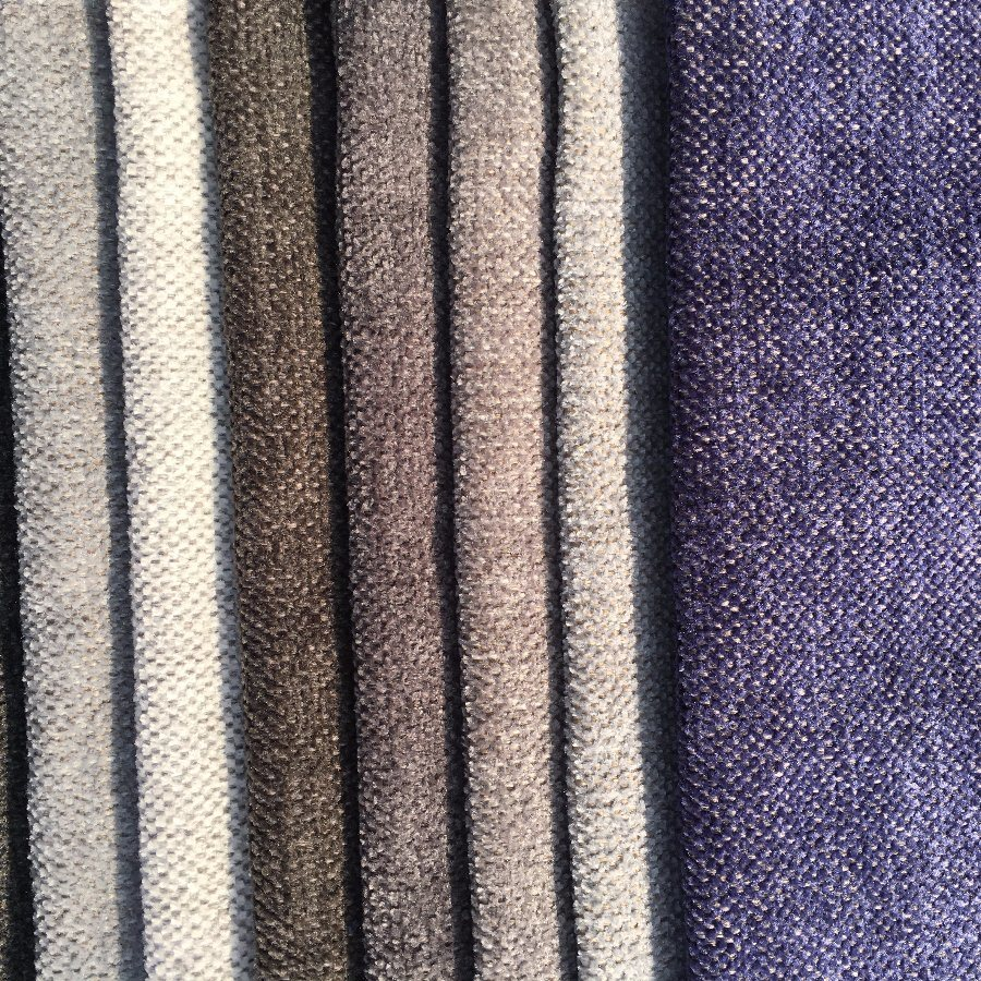 Polyester Chenille Plain Woven Fabric for Sofa Covering (G096)