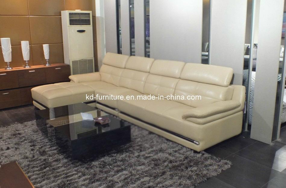 Sof de cuero de la esquina para la sala de estar muebles for Sofa exterior casero
