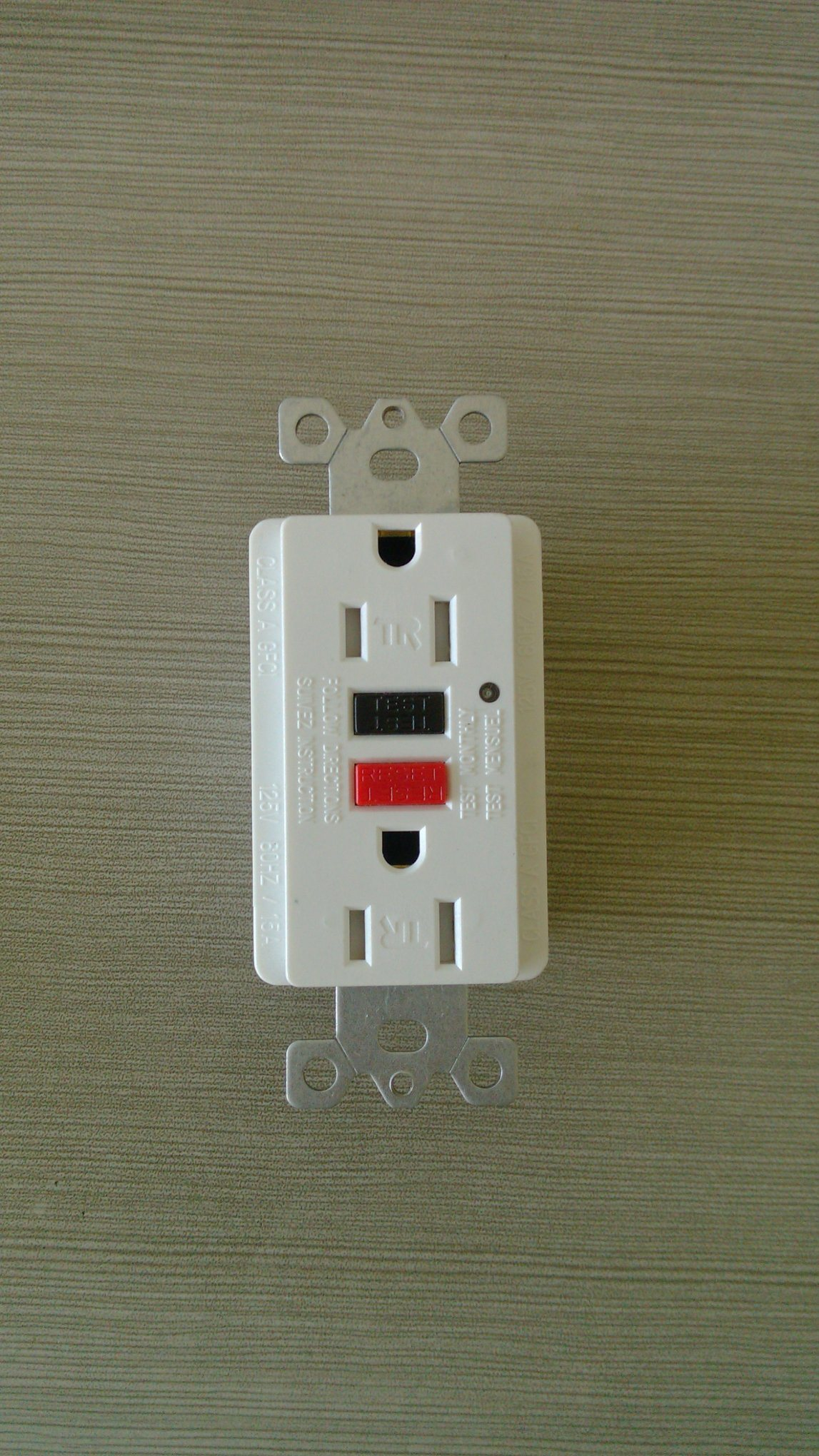 15A 125V American Type Newest GFCI with Wallplate
