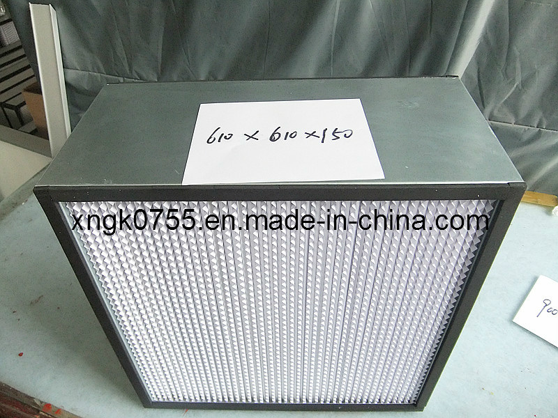 Hepa Filter For Air Conditon : Deep pleated hepa paper air conditioning filter china
