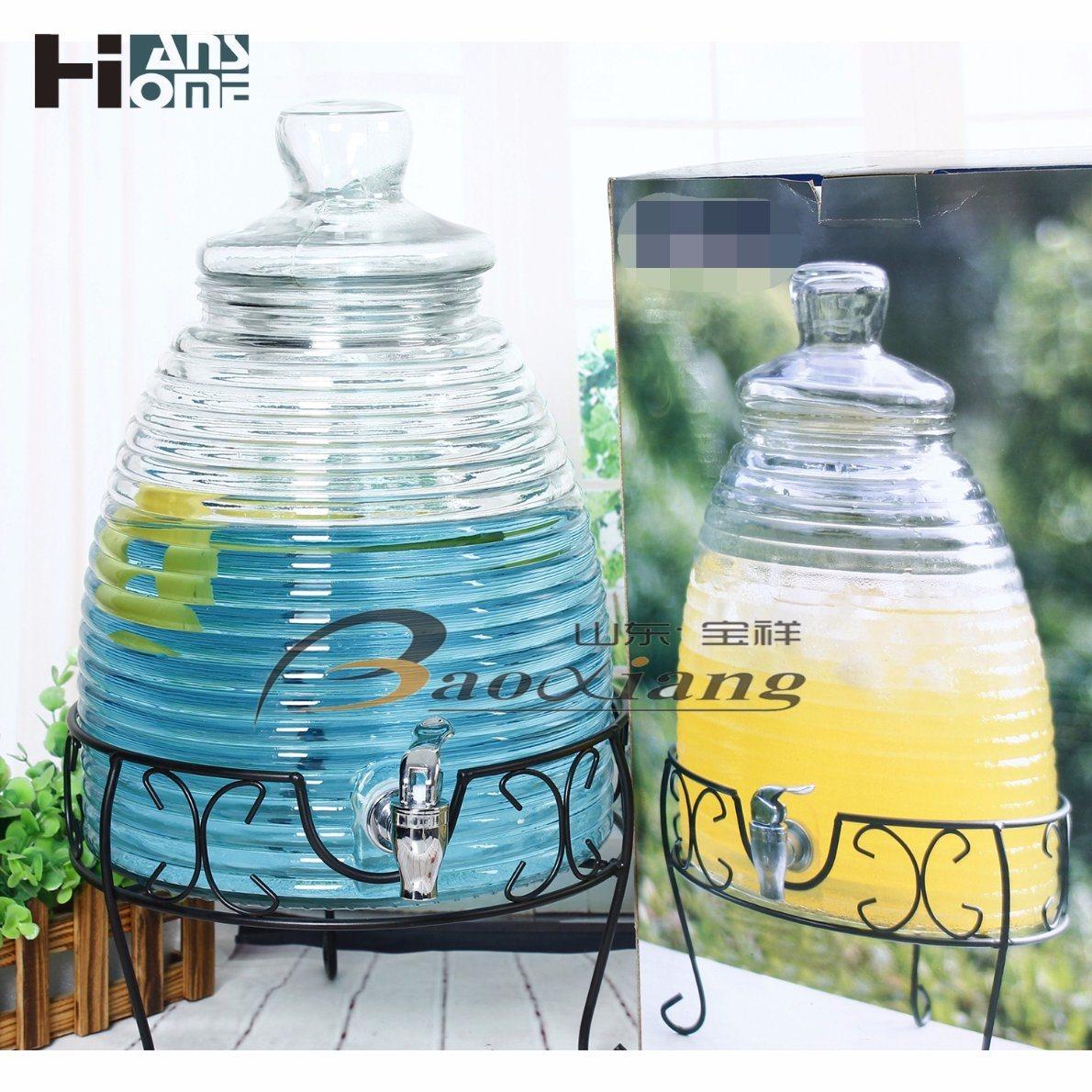 Three Size Wine Glass Bottle Glassware with Storage Jar