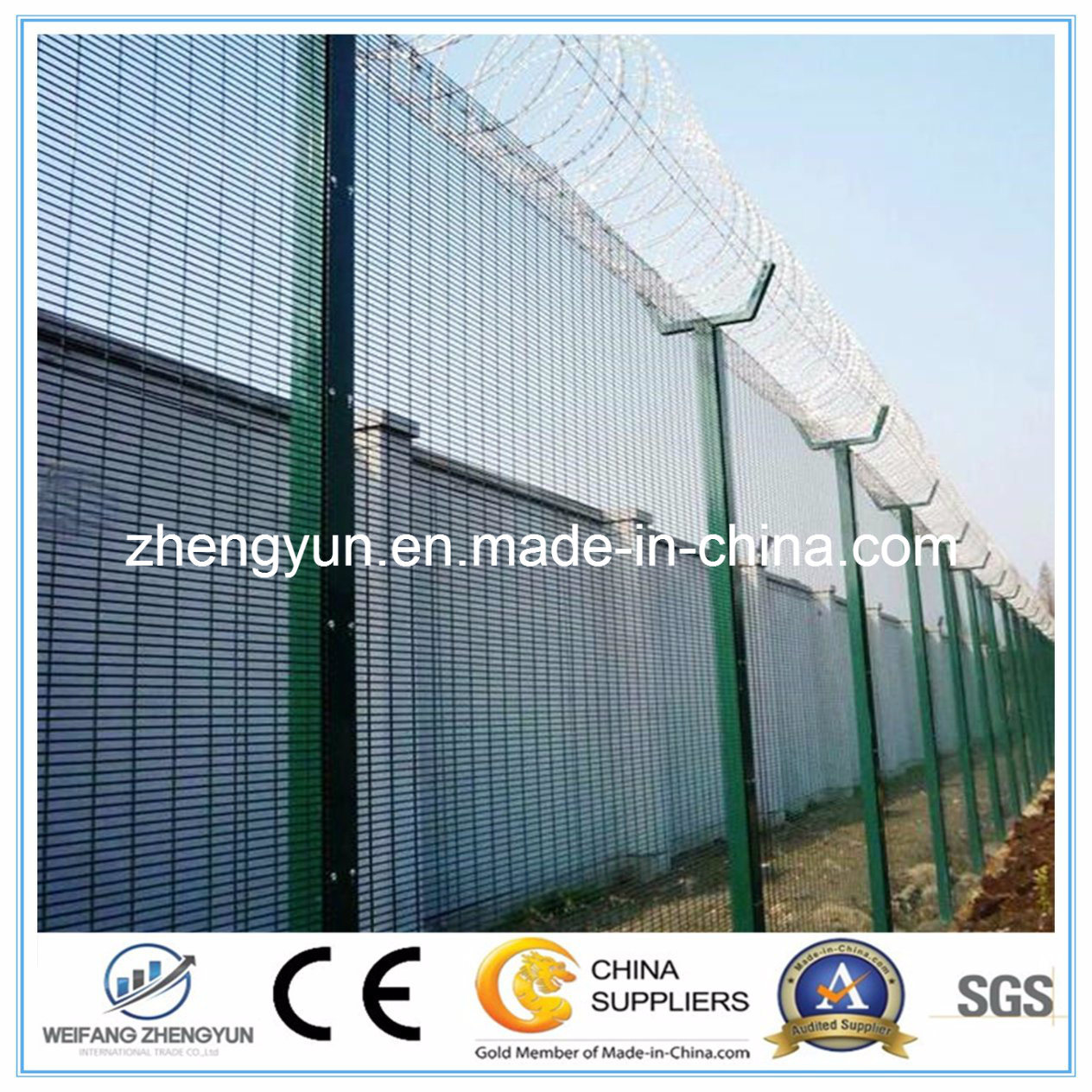Anti Climb 358 High Security Fencing System Cheap Clear Vu Fence