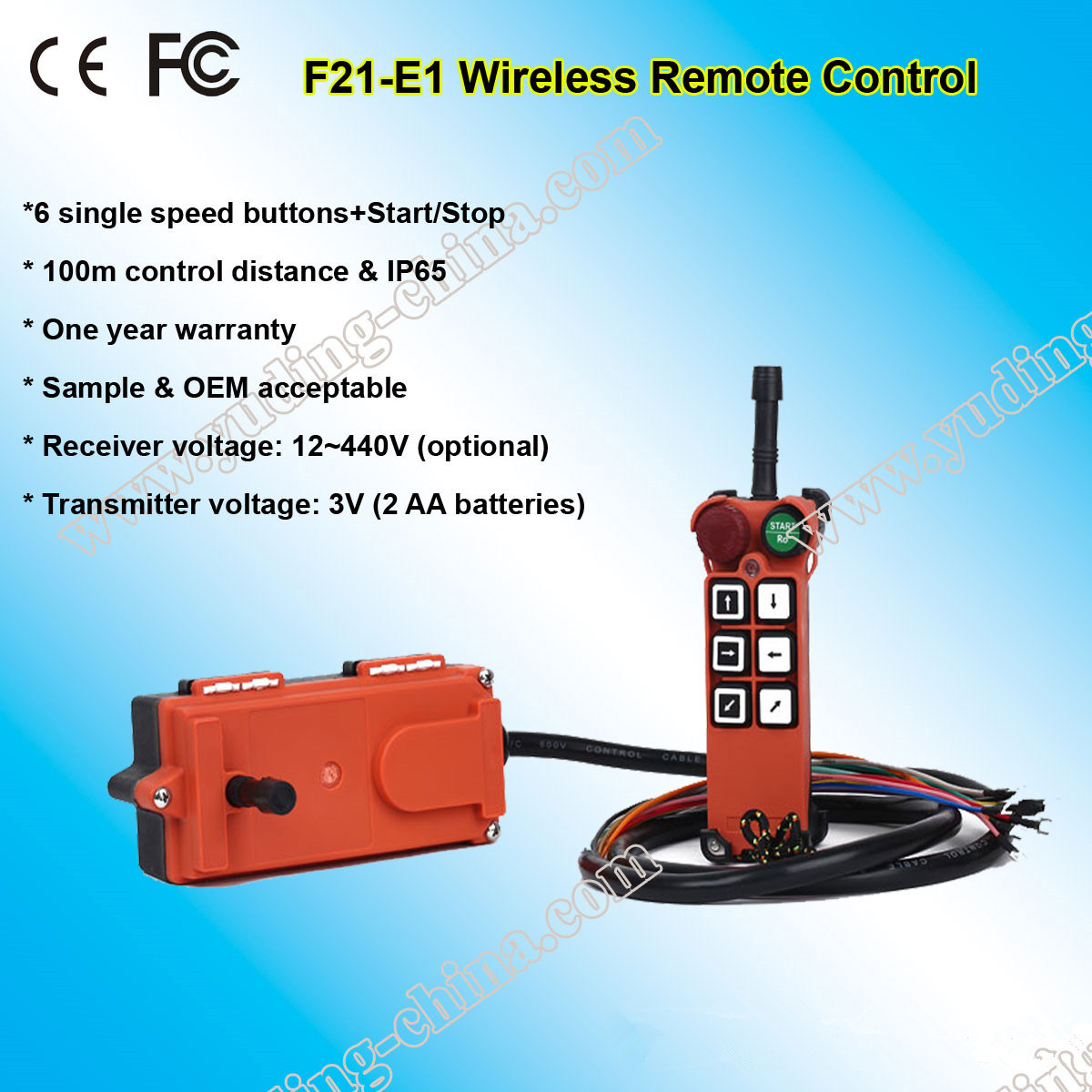 F21-E1 Industrial Wireless Radio Remote Control for Bridge Crane