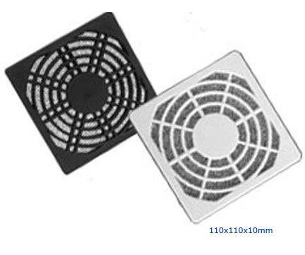 Plastic Fan Guard, Triple Dust Network, 110X110X10mm