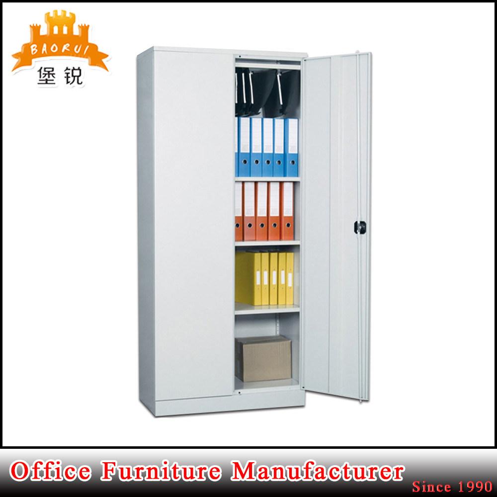 2 Swing Doors Steel Storage Cupboard Metal Office Filing Cabinet