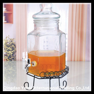 6000ml Clear Liquid Storage Glass Bottle