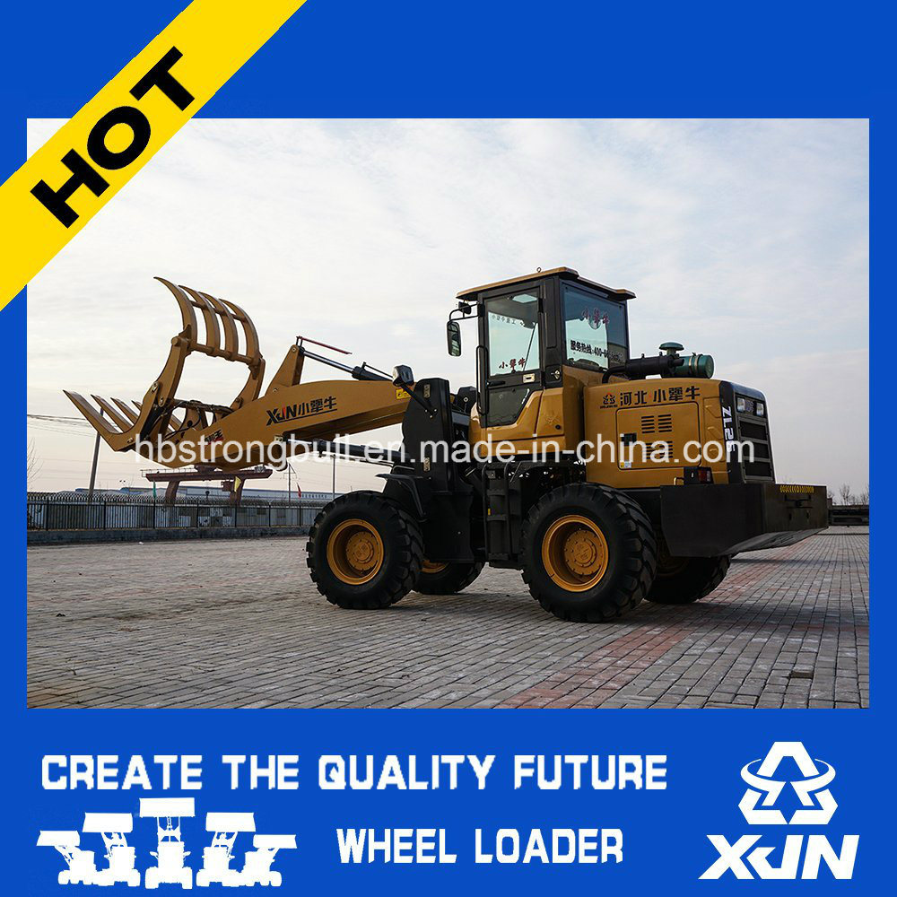 1.5ton with 4.5m Dumping Height Grass Grapple Wheel Loader Mini Loader Zl26
