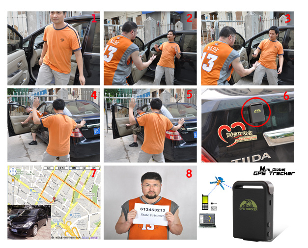 Realtime GPS Car Tracker Mini Anti-Theft Monitor and Alarm