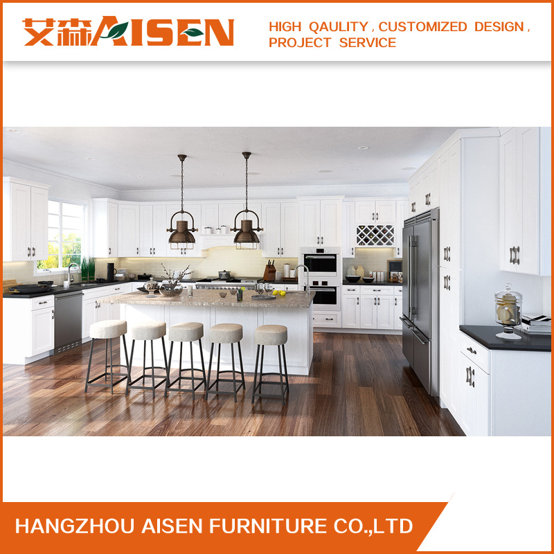 High Quality Classic Solid Wood Kitchen Cabinet for Amerian Market