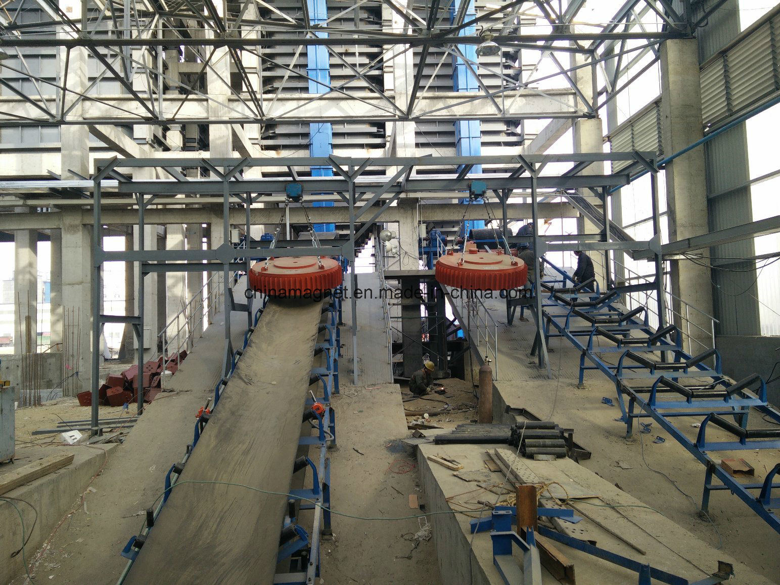 Rcdb Series Suspension High Intensity Permanent Magnetic Separator for Conveyor Belt
