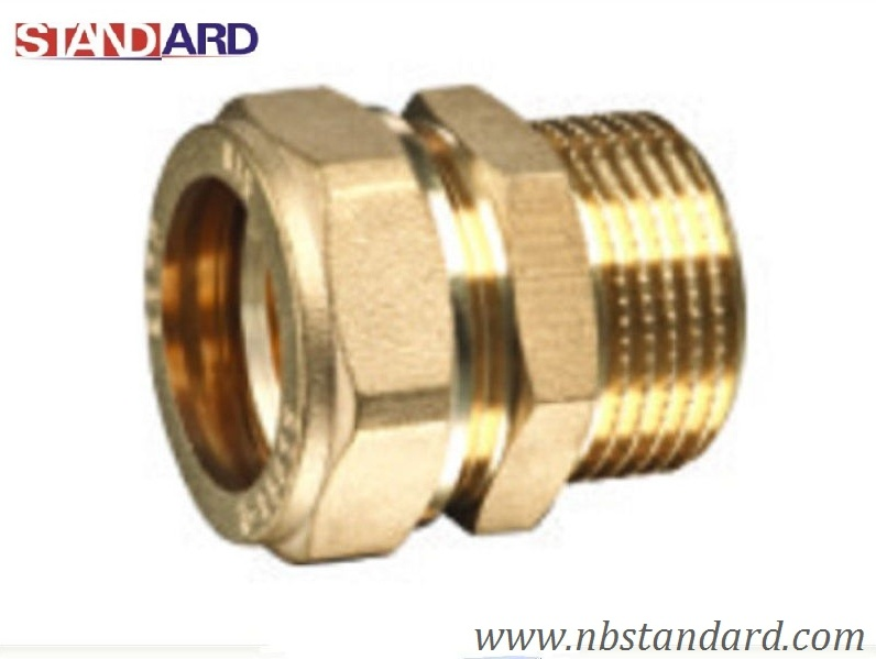China brass compression fitting for copper pipe photos