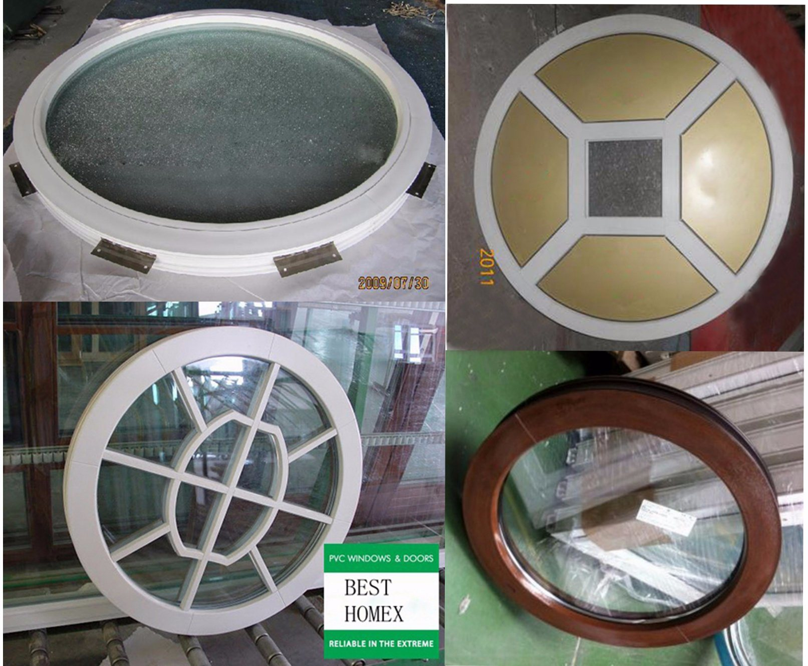Professional Manufacturer of PVC Circular Casement Window (BHP-RW07)