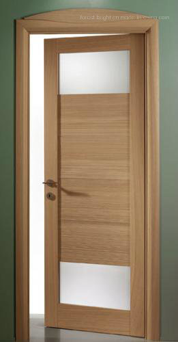 Interior Shaker Style Wooden Glass Door Made in China