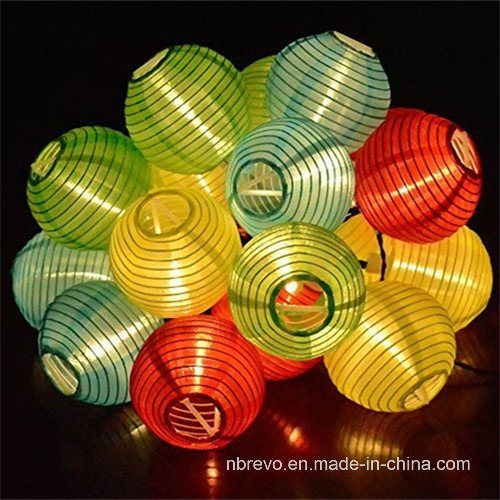 Solar 10LED Chinese Lantern Garden String Lights (RS1012)