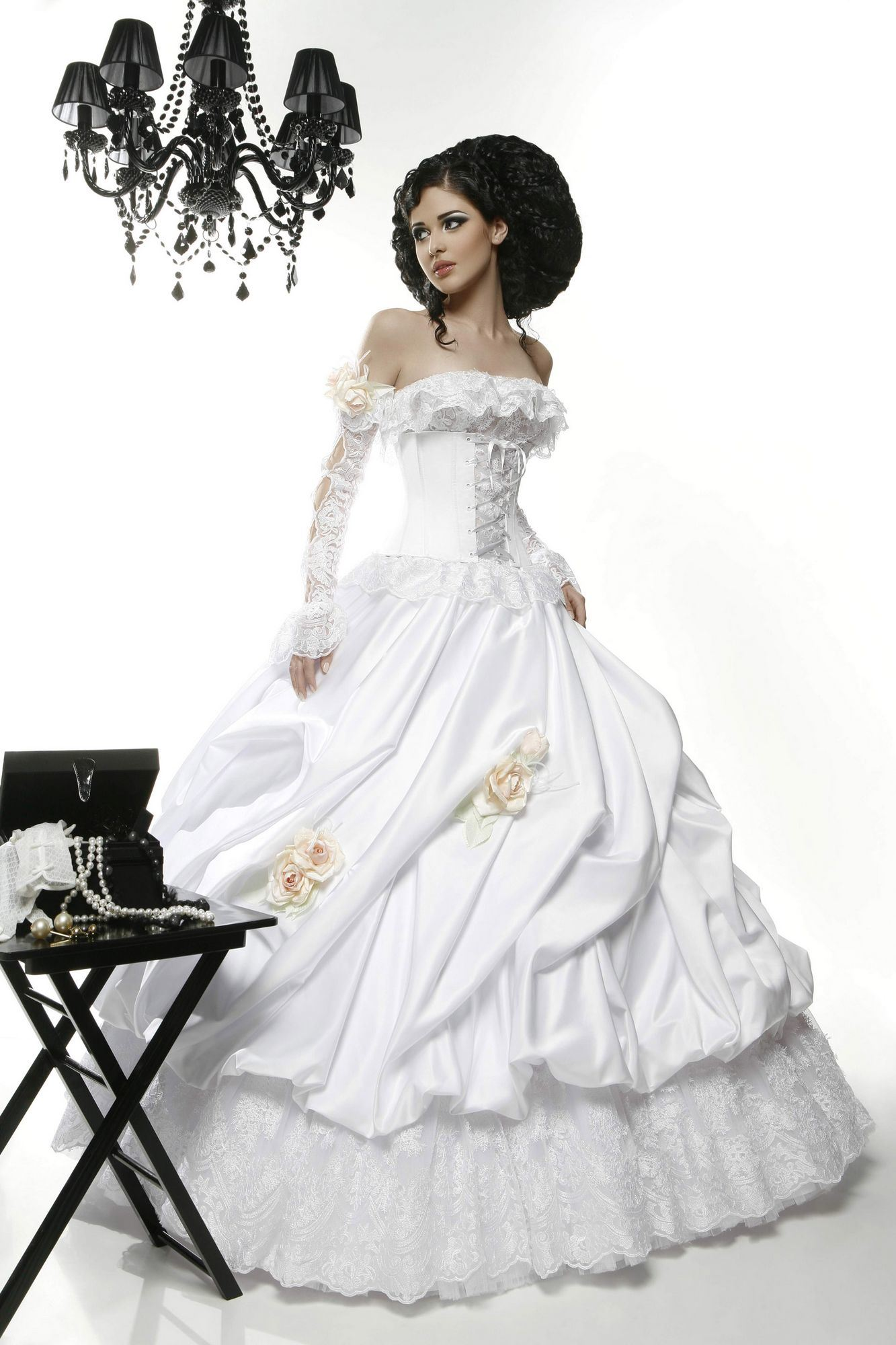 Ball Gown Wedding Dresses With Long Sleeves : Long sleeve ball gown hs china wedding dresses