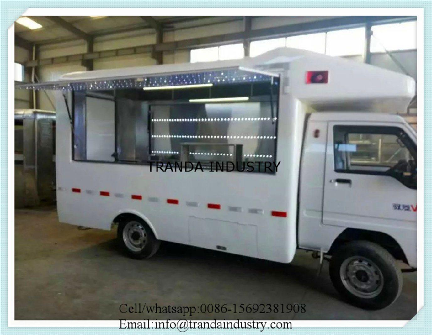 Gasoline Chinese Food Dining Car Egg Cake Mobile Food Shop