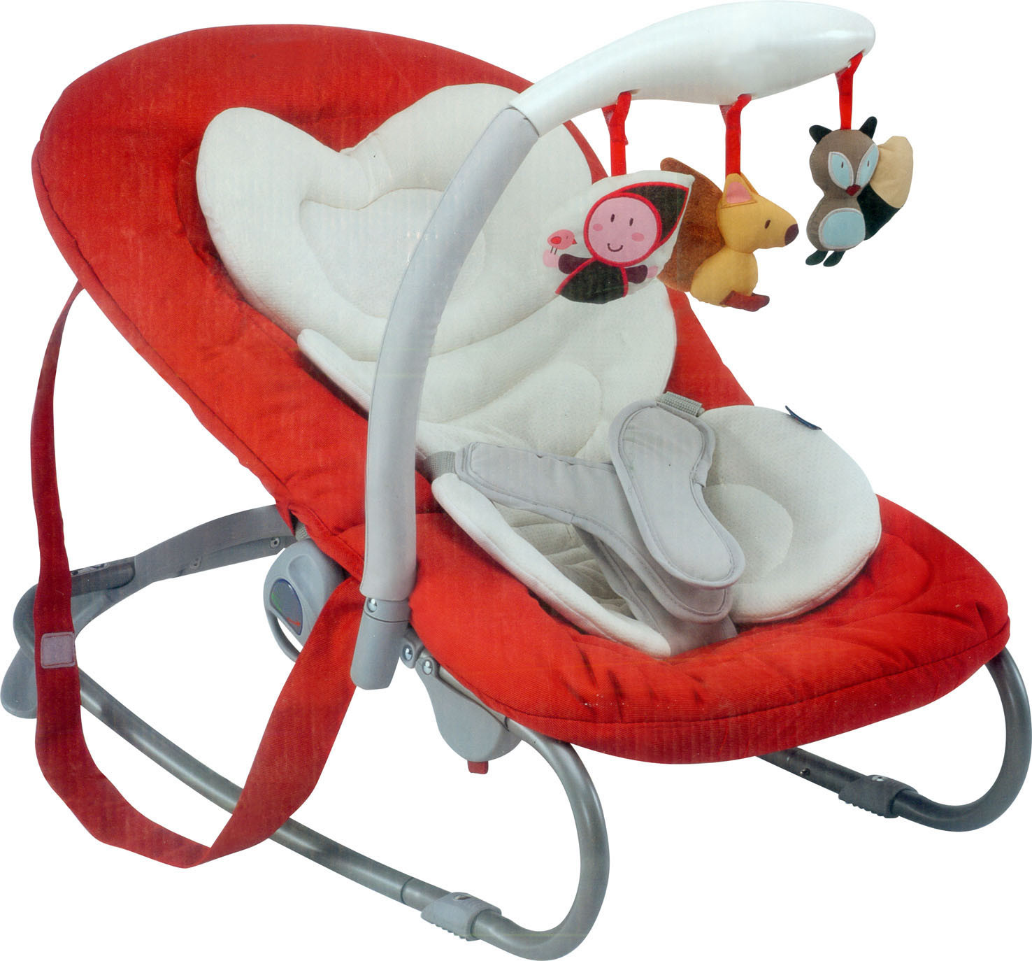 Adjustable Cradle & Soothe Soft Baby Bouncer/ Rocker with Music and Vibration En12790 Baby Trace Brand
