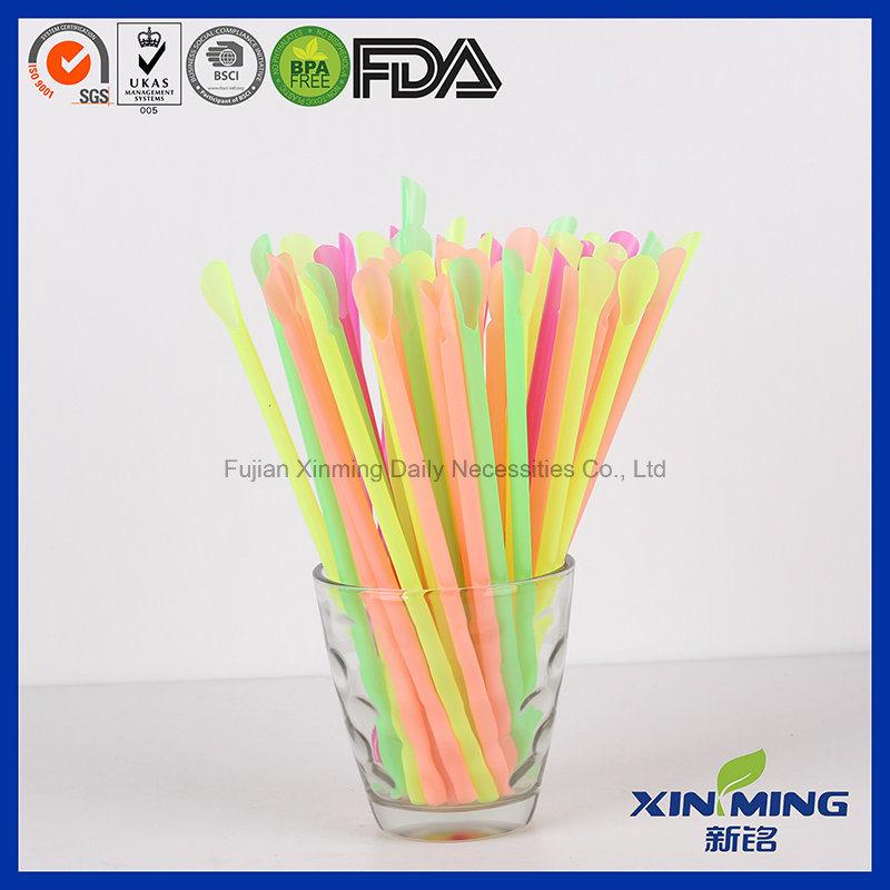 Giant Hard Neon Style, Plastic Spoon Drinking Straw