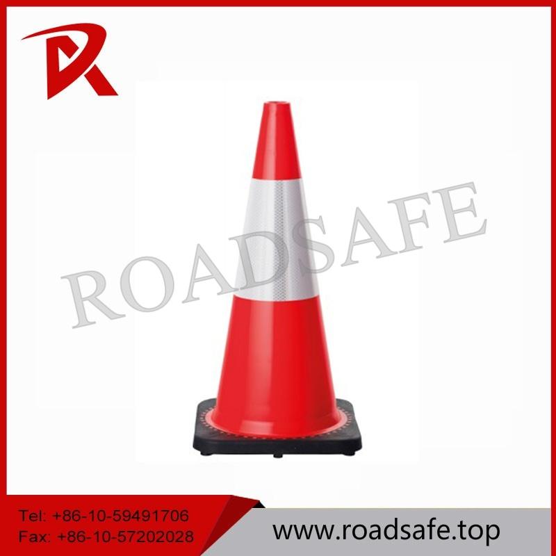 45cm PVC Traffic Cone with Black Base