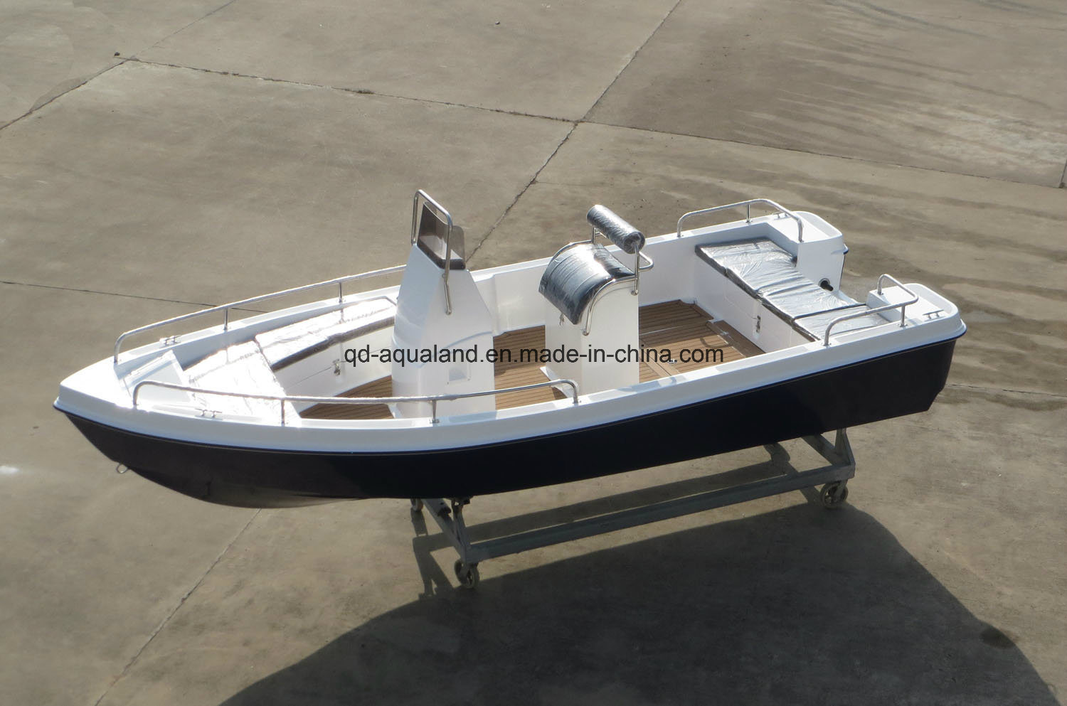 China Aqualand 18feet 5.5m Fiberglass Motor Boat/Sports Fishing Boat/Center Console/Panga Boat (180)