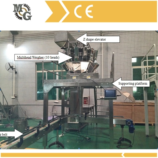 Carton Packing Machine with Multihead Weigher