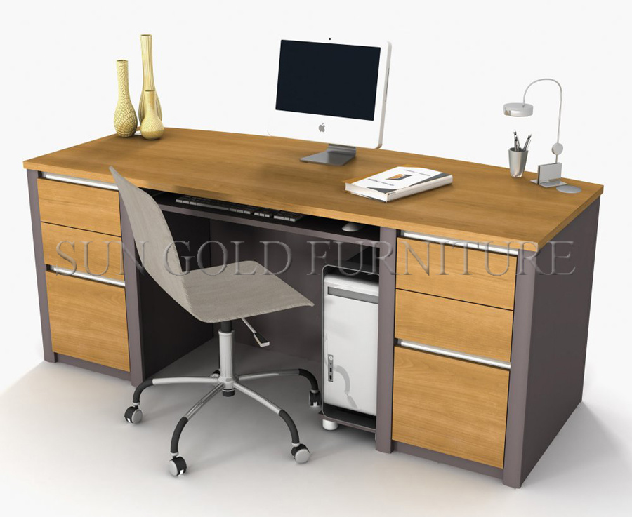 Modern Office Furniture, Wooden Office Desk, Melamined Office Desk (SZ-OD135)