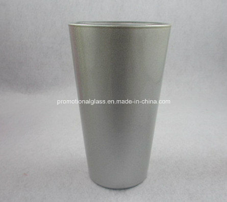 Pearl Finish Sublimation Pint Glass, 16oz Glass Tumbler