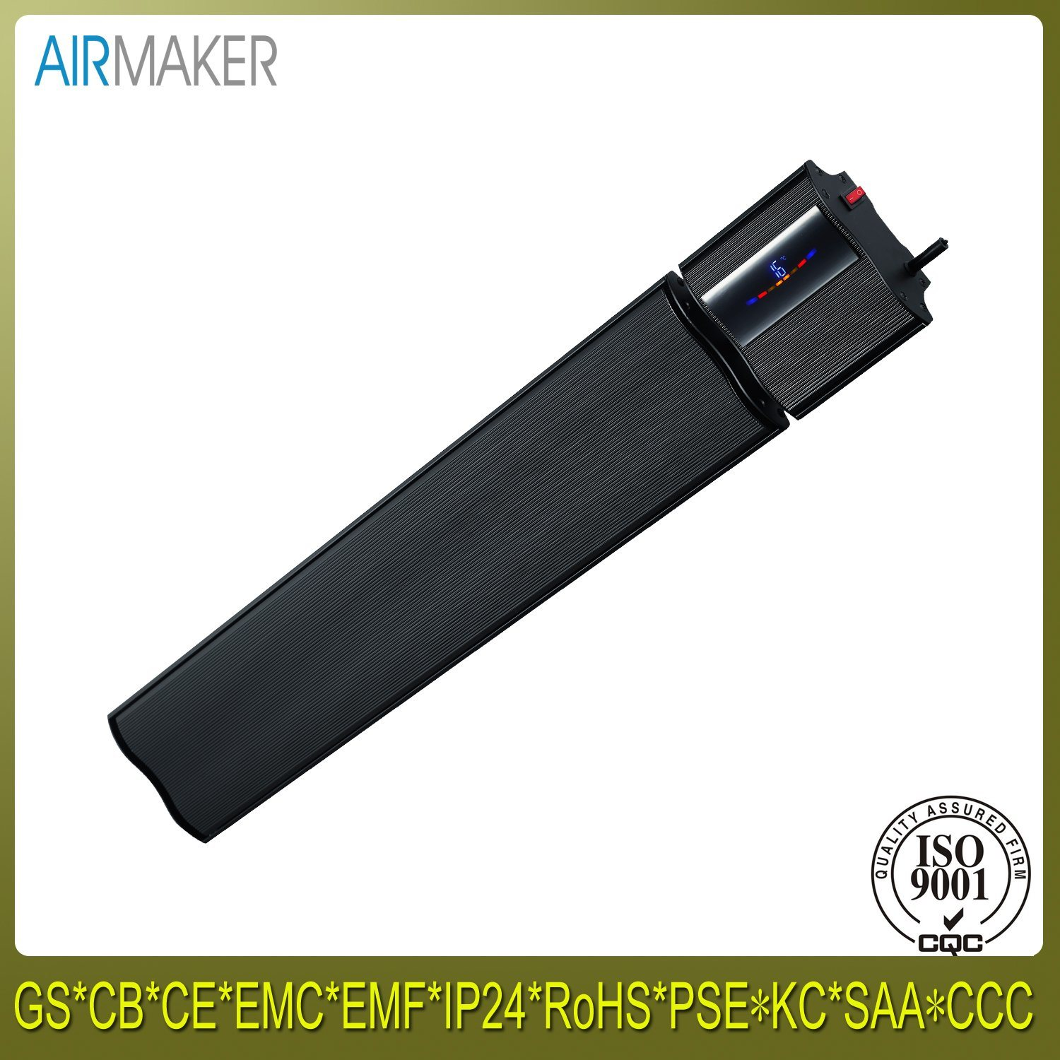 Aluminum Body with Remote Controller Far Infrared Ceramic Plate Heaters