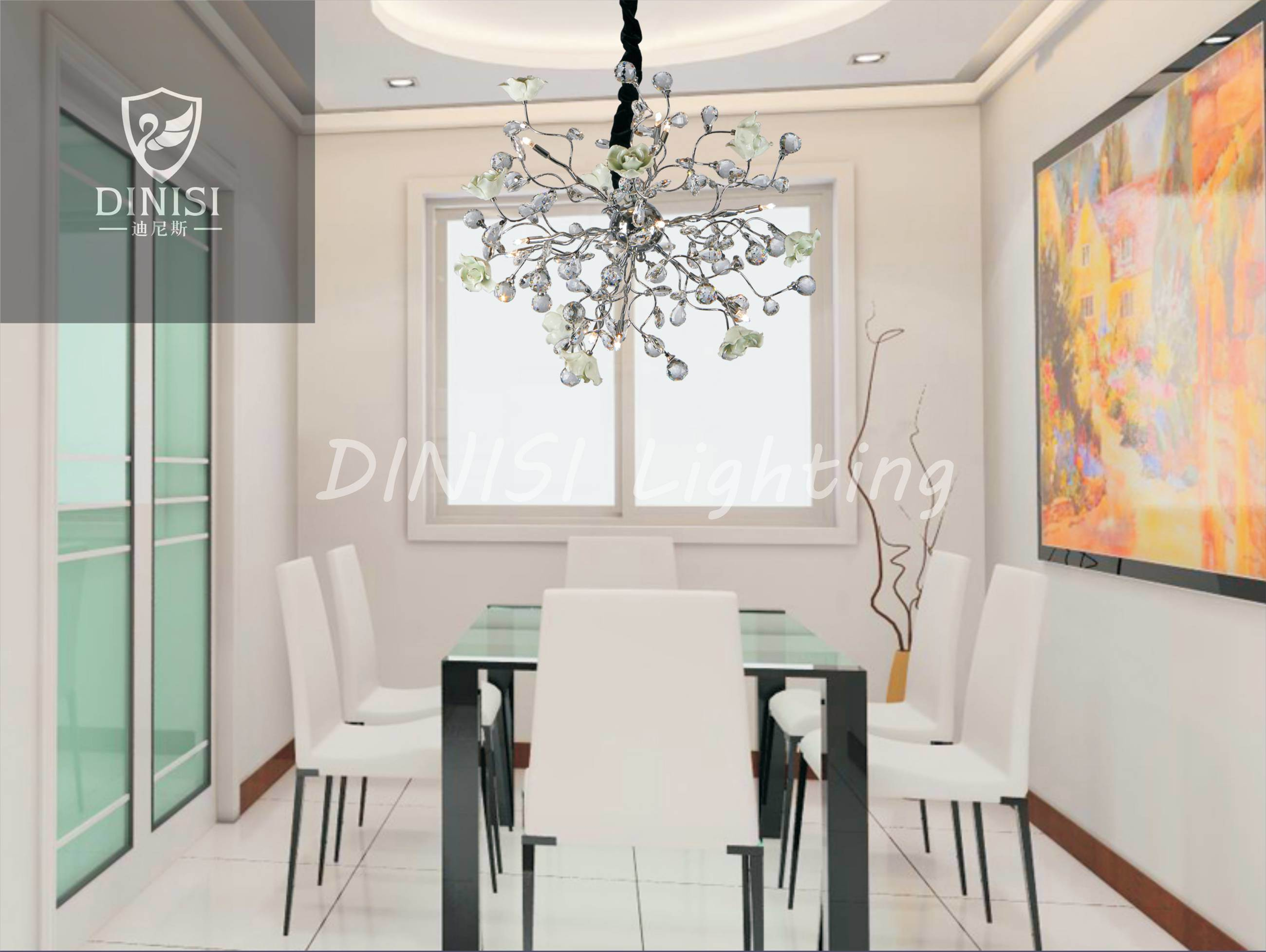 Modern LED Decorative Crystal Pendant Lamp (9496-18P)