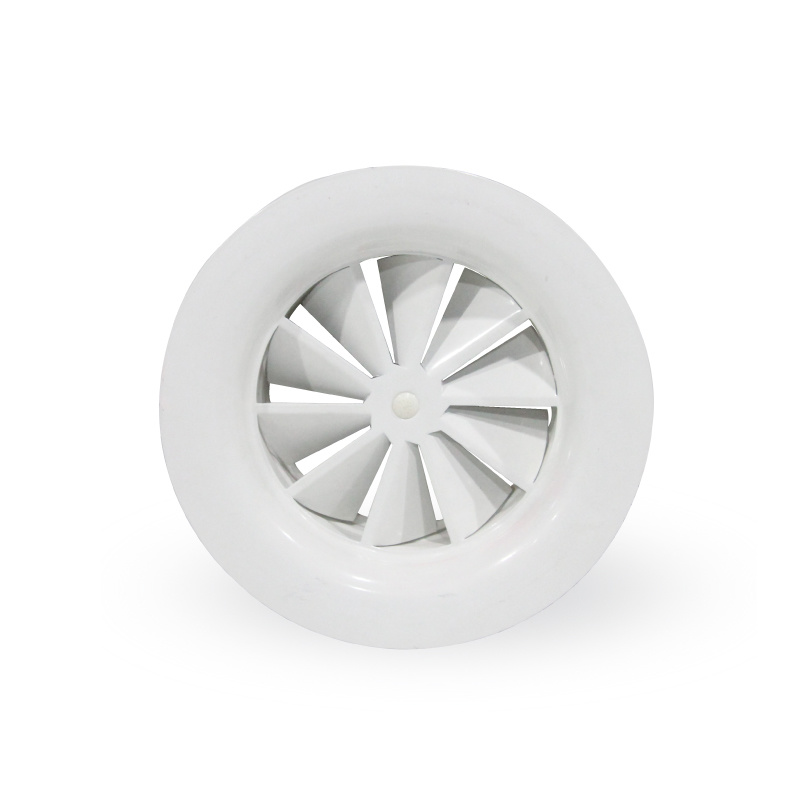 Round Swirl Ceiling Diffusers with Flat Frame and Fixed Blades