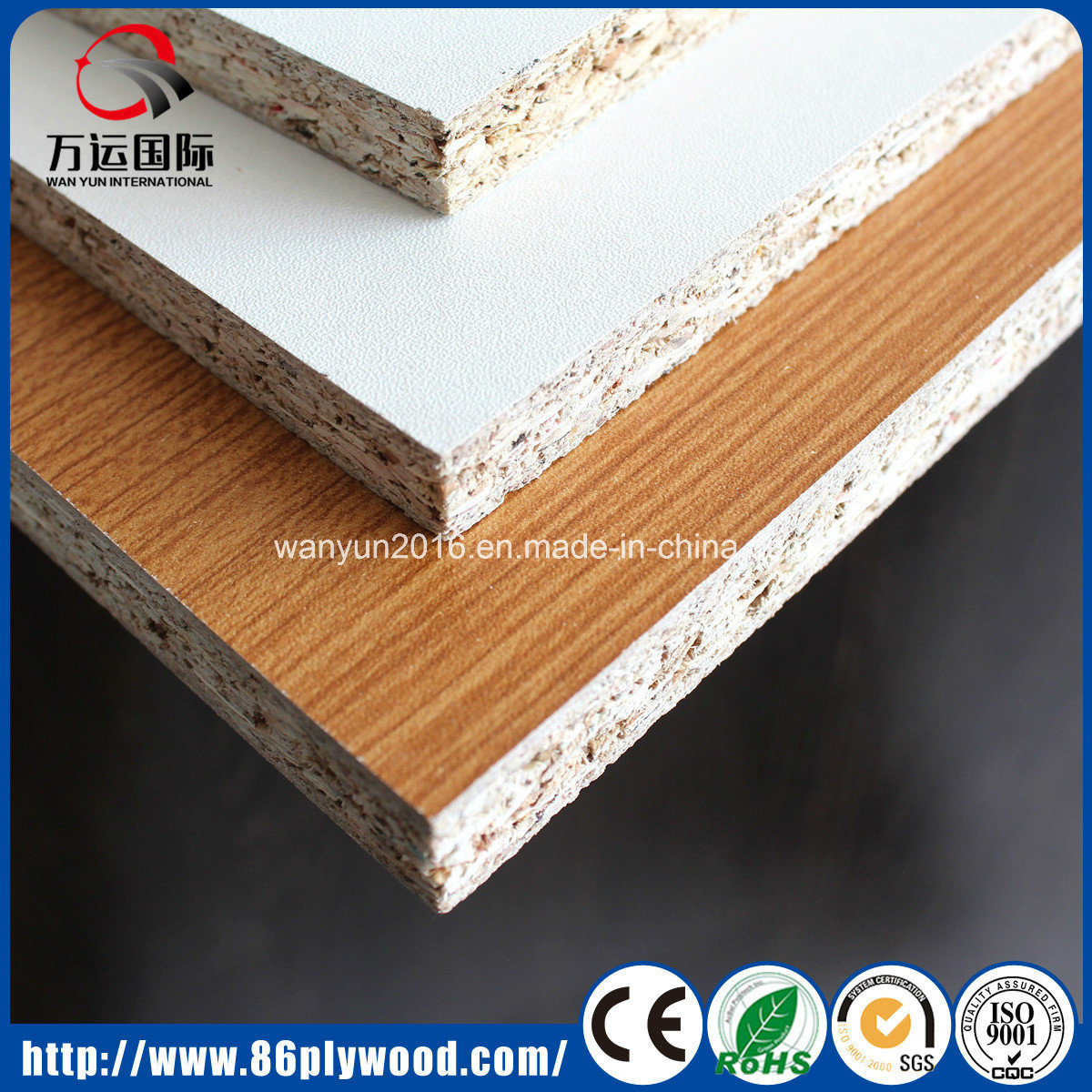 18mm E2 Glue Plain/ Melamine Particle Board