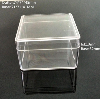 Square Clear Plastic Box