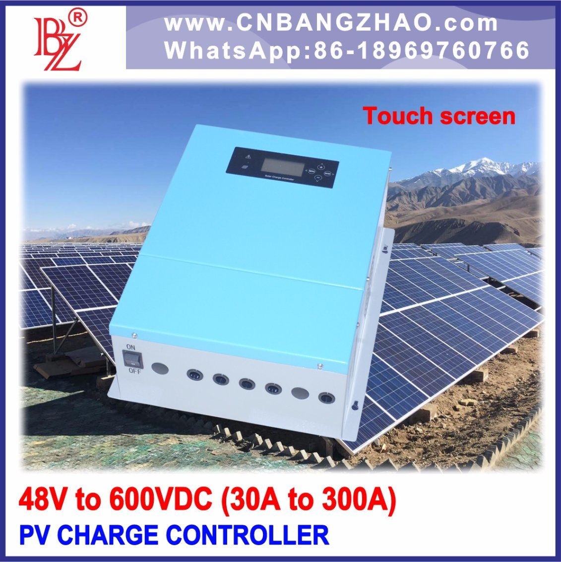 6000W 120V-50A Solar Panels Charge Controller-PWM Control Charger