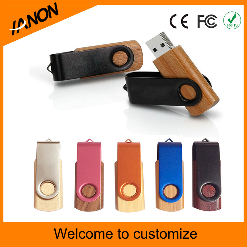 Twister Wooden USB Flash Drive with Logo