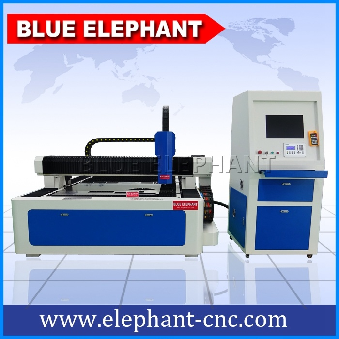 Ele 1530 CNC Fiber Laser Cutter, Carbon Fiber Laser Marking Machine for Steel, Metal