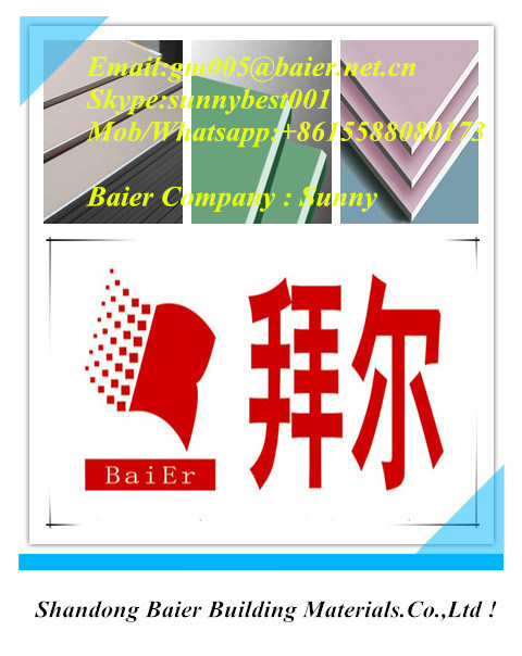 Hot Sale Paper Faced Gypsum Plaster Board / Plasterboard Drywall