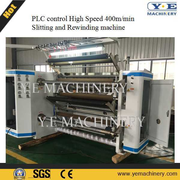 High Speed PLC Control Plastic Film Slitting and Rewinding Machine