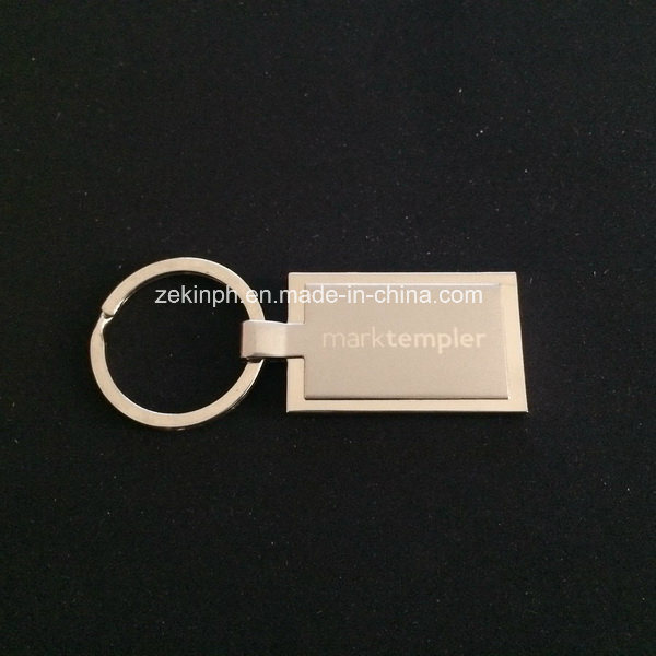 Dual Plating Finishes Metal Keychain