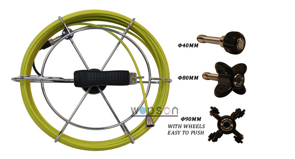 Sewer Inspection Camera, 23mm Color Camera for Small Pipe