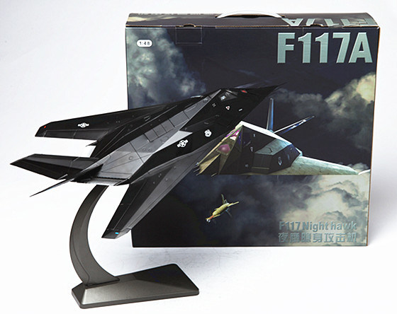 1: 48 Scale Die Cast Airplane Model Toy Nighthawk Stealth Attack Aircraft Souvenir Electrostatic Spraying