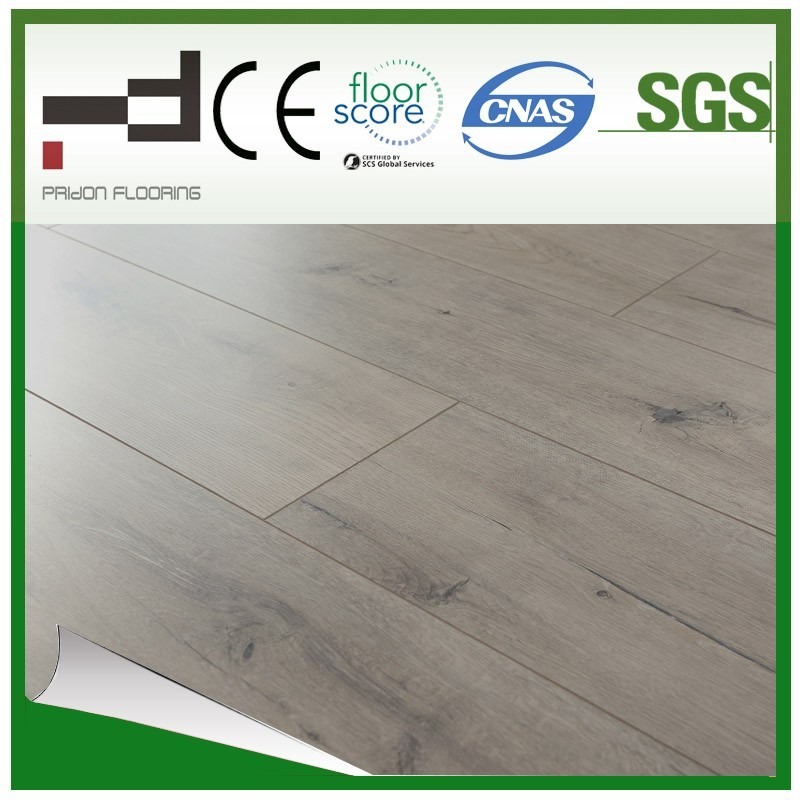 12mm Hand-Scraped Imitation Wood V-Bevelled Laminated Flooring