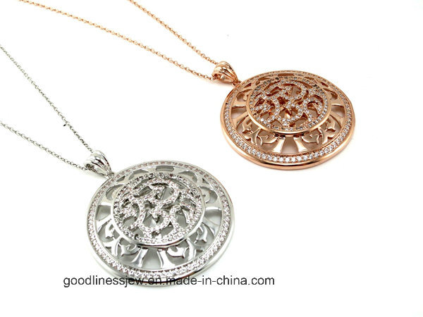 High Quality and Fashion Lady Jewelry for Silver CZ Pendant P4922