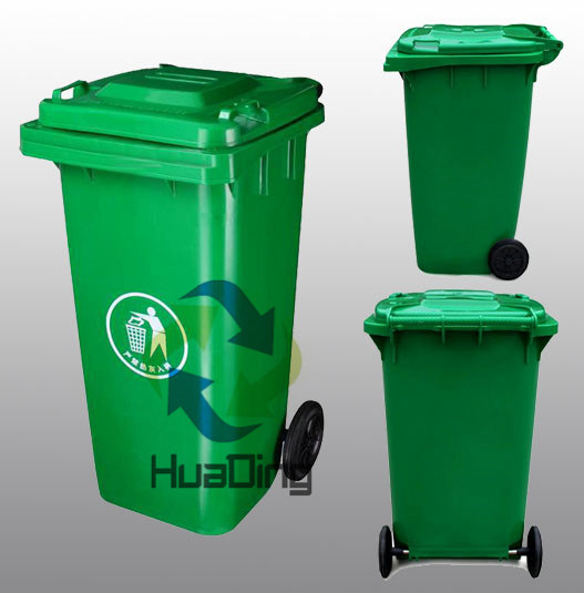 Outdoor Plastic Dustbin 360L with Green