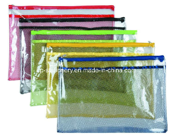 PVC Colorful Zipper Bag (V7101)