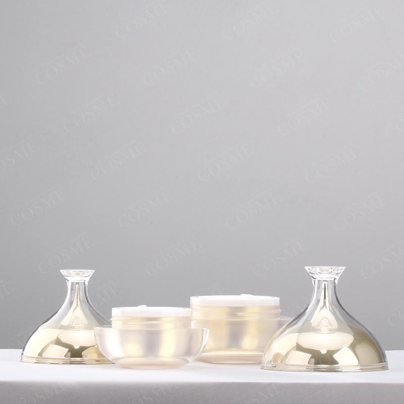 30g 50g Gold Plastic Acrylic Luxury Skincare Cosmetic Cream Bottle and Jar