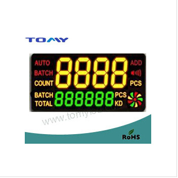 Dstn Segment Character Color LCD Screen White LED Backlight