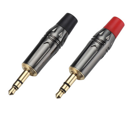 3.5mm Stereo Plug 3.5 mm Audio Jack Connector Adapter Gold-Plated Headphone Plug