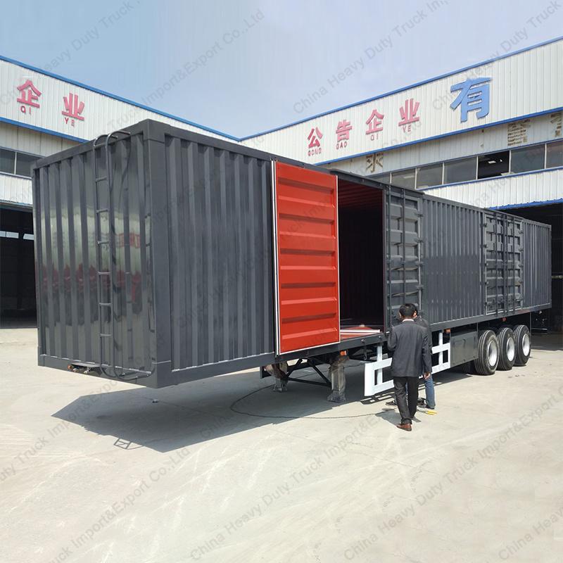3 Axle 50 Tons Heavy Duty Van Truck Semi-Trailer