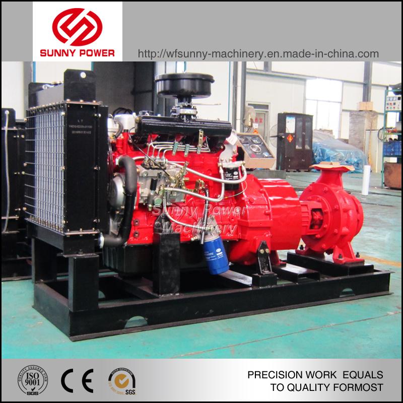 4 Inch Diesel Engine Water Pump with Jockey Pump and Pressure Tank