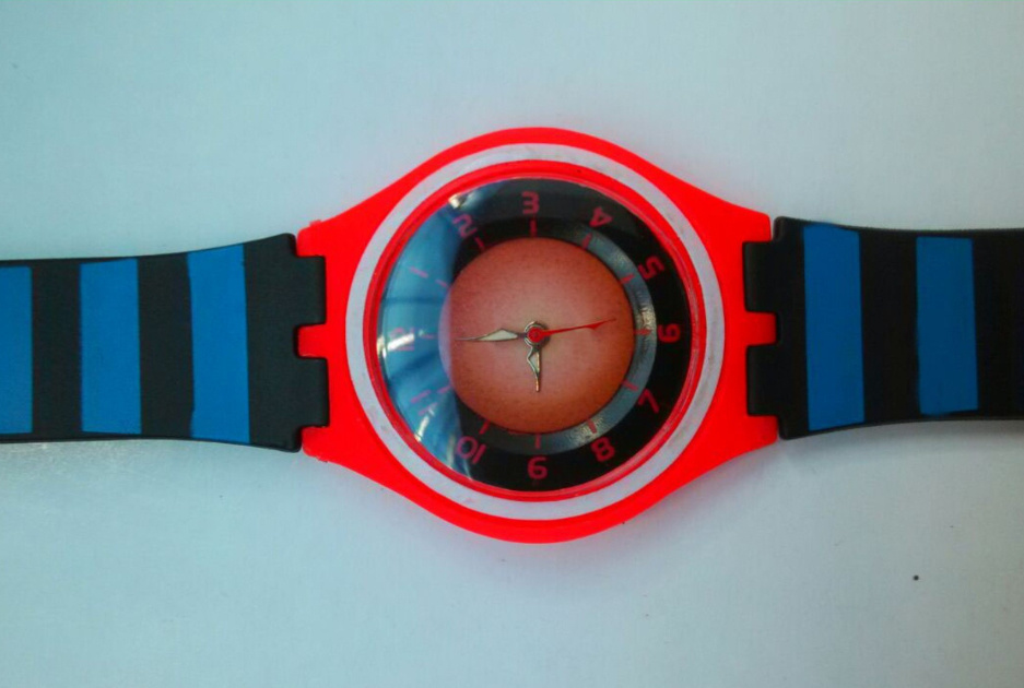 Plastic Cement Colorful Creative Rubber Environmental Protection Watch